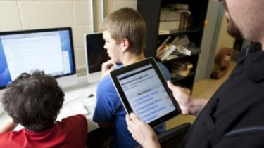 Schools aren't the only places jumping on the iPad bandwagon; Government offices and restaurants are going high tech too.