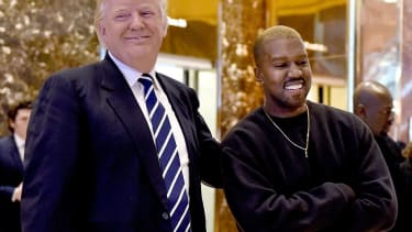 Donald Trump and Kanye West.