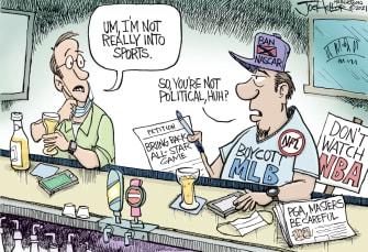 Political Cartoon U.S. mlb georgia law