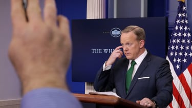 Sean Spicer was one of two White House staff to directly apologize to Britain.