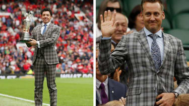 Rory McIlroy takes on Ian Poulter in an impromptu round of 'Who Wore it Best?'