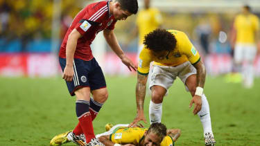 Brazilian star Neymar out of World Cup after freak injury