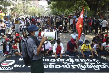 Myanmar protest.