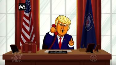 Cartoon President Trump insults Australia