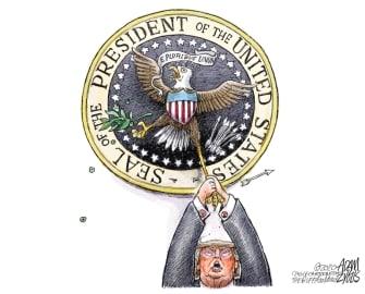 Political Cartoon U.S. Trump 2020