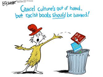 Editorial Cartoon U.S. dr seuss cancel culture