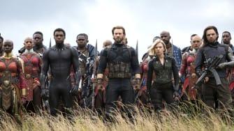 A scene from Avengers: Infinity War.