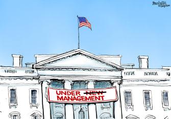 Political cartoon U.S. Biden white house