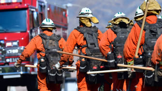 Inmate firefighters in California.