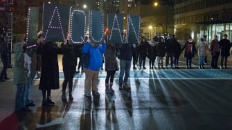 Protesters march for Laquan McDonald.