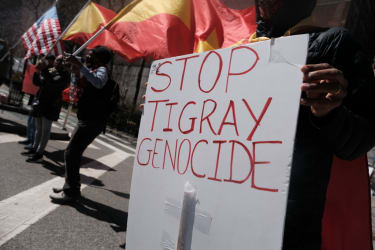 Protests against alleged genocide in Tigray.