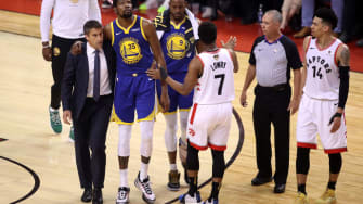 Kevin Durant leaves Game 5 of NBA Finals with injury