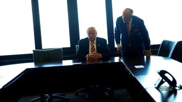 President Trump and Rudy Giuliani.