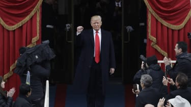 President Trump during his inauguration.