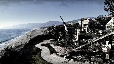 A burned house.