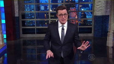 Stephen Colbert has theories about Trump and baseball