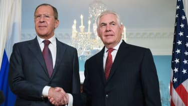 Secretary of State Rex Tillerson and Russian Foreign Minister Lavrov.