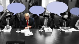 President Trump in a cabinet meeting.