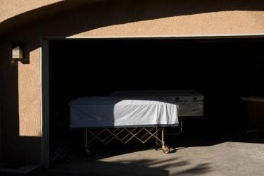 An empty casket