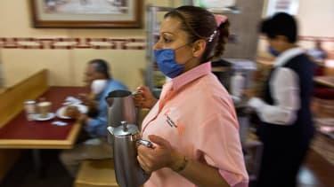 Waitress in Mexico City