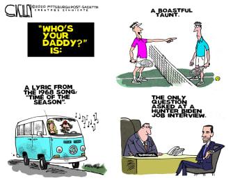 Political Cartoon U.S. Hunter Joe Biden