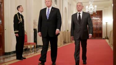 Donald Trump and James Mattis.