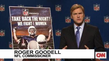 SNL channels NFL Commissioner Roger Goodell: 'We fight women'