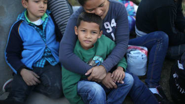 Would-be immigrants from Honduras