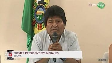 Evo Morales announces his resignation