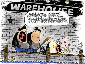 Political Cartoon U.S. Trump goons