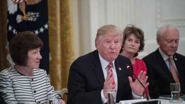 President Trump tries to win over health-care holdouts