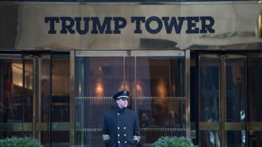 The outside of Trump Tower in Manhattan.