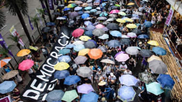 Pro-democracy protest in Hong Kong