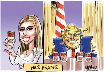 Political Cartoon U.S. Trump Ivanka Goya