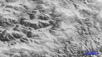 NASA image of Pluto's surface