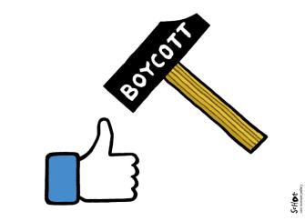 Editorial Cartoon U.S. Facebook boycott