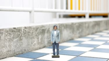 Figurines from 3-D printing photo booth