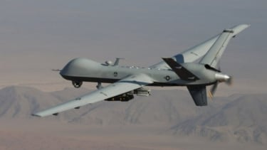 Al Qaeda's nightmare: An MQ-9 Reaper drone armed with GBU-12 Paveway II laser guided munitions and AGM-114 Hellfire missiles.