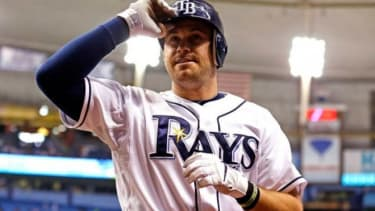 Relative rookie Evan Longoria of the Tampa Bay Rays was offered a 10-year guaranteed $100 million contract, which he eagerly accepted.