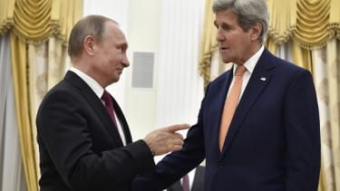 Putin skeptical about Kerry carrying his own luggage.