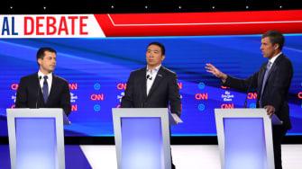 Pete Buttigieg, Andrew Yang, and Beto O'Rourke.