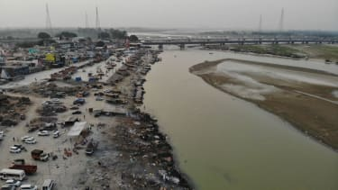The banks of the Ganges River.