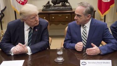Donald Trump and David Shulkin.