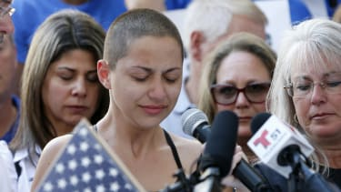 Marjory Stoneman Douglas High School student Emma Gonzalez speaks at a rally for gun control.
