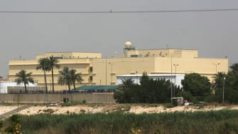 The U.S. Embassy in Baghdad.
