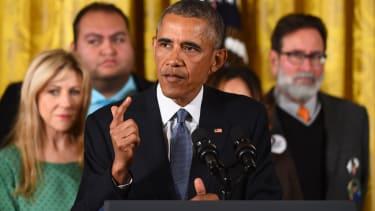 President Obama addresses gun control.