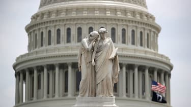 The Peace Monument at the U.S. Capitol.