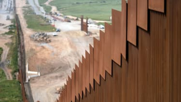 A portion of the U.S.-Mexico border wall