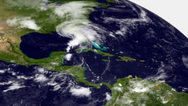 Tropical Storm Andrea intesified in the Gulf of Mexico before hitting Florida, and it's now heading up the East Coast.