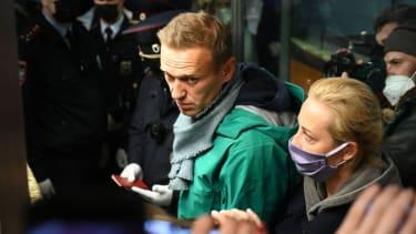 Alexey and Yulia Navalny.